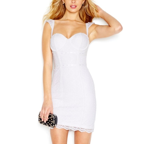 e10f2d7a3a4 Guess Dresses   Skirts - NEW GUESS Lace Corset White Bustier Dress